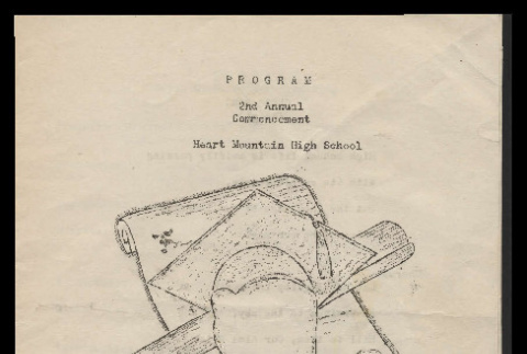 Program, 2nd Annual Commencement, Heart Mountain High School (ddr-csujad-55-907)