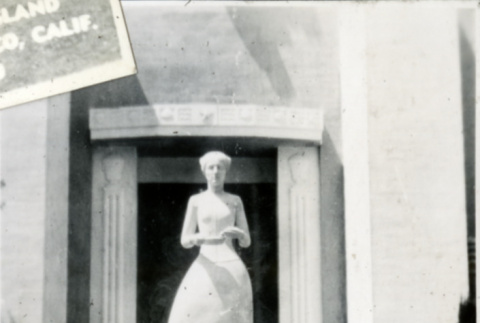 Woman and Statue (ddr-csujad-11-103)