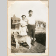 Photo of man and woman with dog (ddr-densho-341-64)