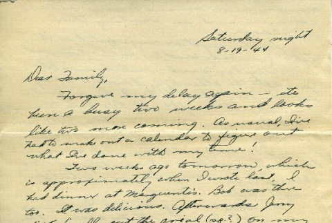 Letter from a camp teacher to her family (ddr-densho-171-54)