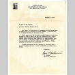 Letter from Ed Bethune, Personnel Technician, United States Department of the Interior War Relocation Authority, November 7, 1945 (ddr-csujad-5-101)