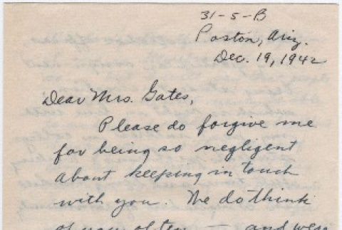 Letter  from the Masudas to Mrs. Charles Gates (ddr-densho-211-7)