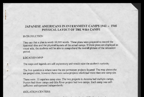 Japanese Americans in internment camps 1942-1946, physical layout of the WRA camps (ddr-csujad-55-2495)