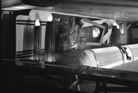 Christmas decorations in a mess hall (ddr-fom-1-60)