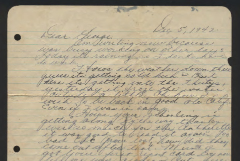 Letter from Kenneth Hori to George, December 5, 1942 (ddr-csujad-55-2547)