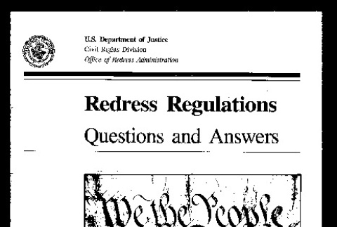 Redress regulations questions and answers (ddr-csujad-55-85)