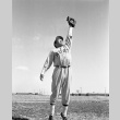 Baseball player catching a fly ball (ddr-fom-1-753)