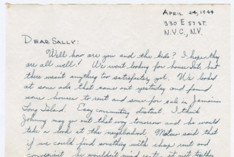 Letter to Sally Domoto from Kan Domoto (ddr-densho-329-242)