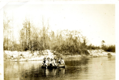 Soldiers in a raft (ddr-densho-22-232)