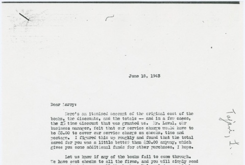 Letter from Larry Tajiri to Margaret Anderson, editor of Common Ground (ddr-densho-338-432)
