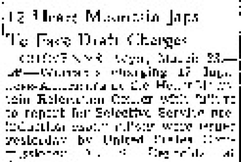 12 Heart Mountain Japs To Face Draft Charges (March 23, 1944) (ddr-densho-56-1032)