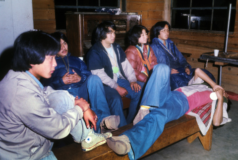 Campers participating in icebreakers (ddr-densho-336-733)