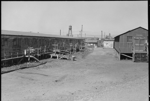 View of barracks and mess hall (ddr-densho-151-345)