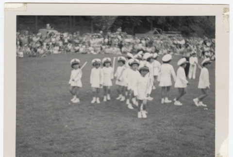 Lotus Kidettes Drill Team members move in formation (ddr-sbbt-6-110)