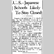 U.S.-Japanese Schools Likely To Stay Closed (January 27, 1942) (ddr-densho-56-583)