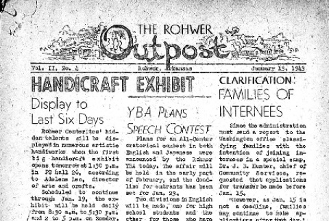 Rohwer Outpost Vol. II No. 4 (January 13, 1943) (ddr-densho-143-23)