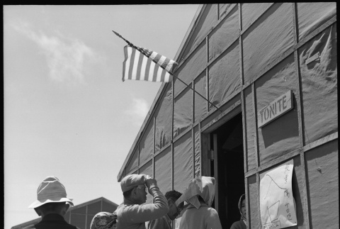 Japanese Americans waiting in line to vote (ddr-densho-151-349)