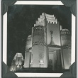 Night view of a building at the Golden Gate International Exposition (ddr-densho-300-182)