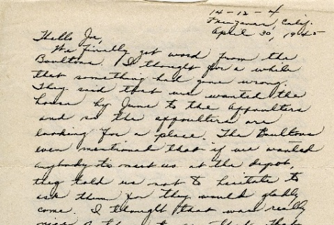Letter to a Nisei man from his sister (ddr-densho-153-131)