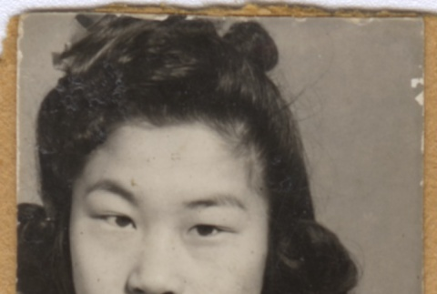 Portrait of a young Japanese American woman (ddr-janm-1-118)