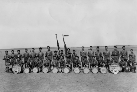 Boy Scout troop drum and bugle corps (ddr-densho-156-24)