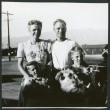Photograph of Dr. Morse Little and family getting ready to depart (ddr-csujad-47-315)