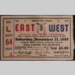 Ticket to the East West Shrine All Star Football Game (ddr-densho-321-1406)