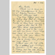 Letter from May [Ayame] Okine to Mr. Makoto Okine, October 7, 1946 (ddr-csujad-5-164)