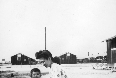Mother and child in camp (ddr-densho-167-6)