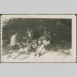 Group picnic with laughing children (ddr-densho-321-92)