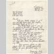 Letter from S. Yoshiyama to Raymond Best, Director of Tule Lake Camp, February 22, 1944 (ddr-csujad-2-3)