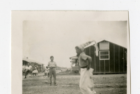 Sack race in Jerome camp (ddr-csujad-38-88)