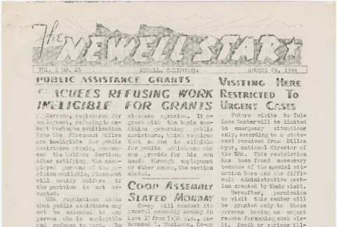 The Newell Star, Vol. I, No. 26 (August 24, 1944) (ddr-densho-284-32)
