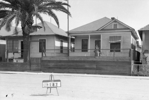 Three houses labeled East San Pedro Tract 182 (ddr-csujad-43-99)