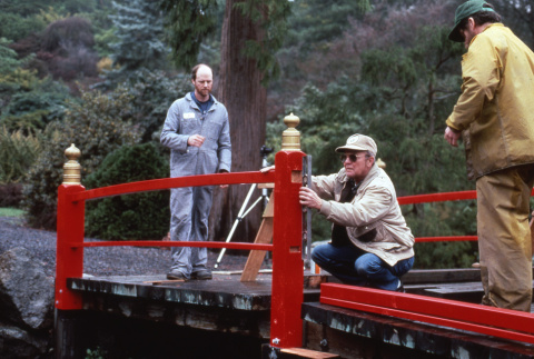 Working on the Heart Bridge at Adopt a Park (ddr-densho-354-1013)