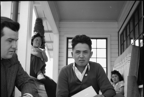 Tolan Committee representative meeting with Japanese American farmer (ddr-densho-151-216)