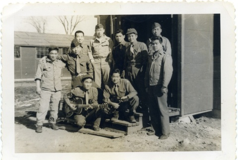 Group photograph of soldiers (ddr-densho-22-163)