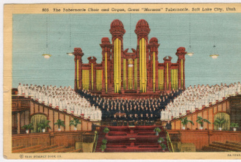 Mormon Tabernacle Choir in front of the Great Organ (ddr-densho-368-250)
