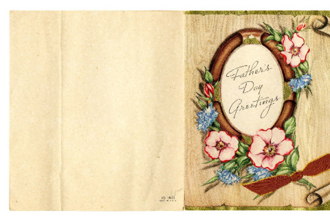 Father's Day card from Masao Okine to Mr. S. Okine, June 9, 1945 (ddr-csujad-5-81)