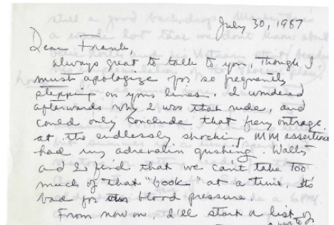 Letter from Michi Weglyn to Frank Chin, June 30, 1987 (ddr-csujad-24-36)