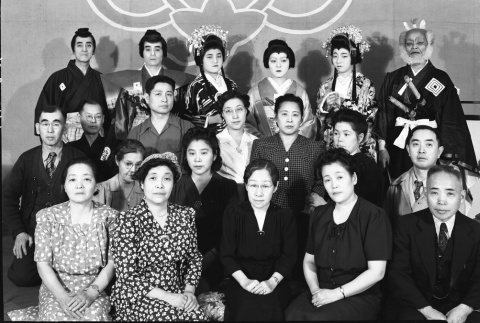 Group photograph of people involved in a performance (ddr-fom-1-70)