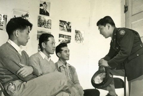 Military recruits in a Selective Service office (ddr-densho-22-494)