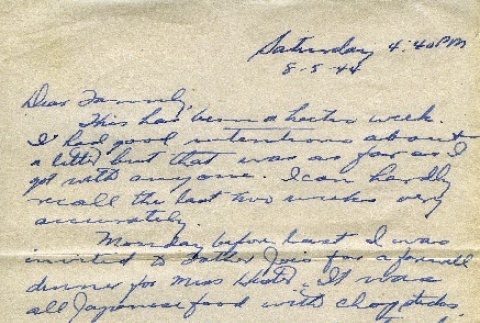 Letter from a camp teacher to her family (ddr-densho-171-53)