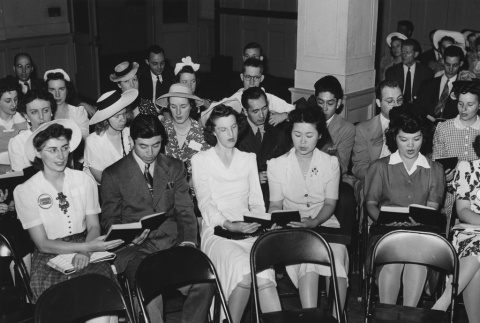 Former incarcerees who have relocated to Detroit, MI, participating in young people's service and discussion group (ddr-csujad-14-33)