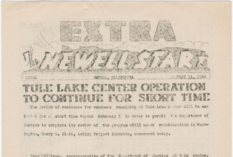 The Newell Star, Extra (January 31, 1946) (ddr-densho-284-115)