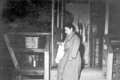 Woman en route to the shower (ddr-densho-2-7)
