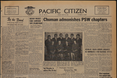 Pacific Citizen, Vol. 54, No. 21 (May 25, 1962) (ddr-pc-34-21)