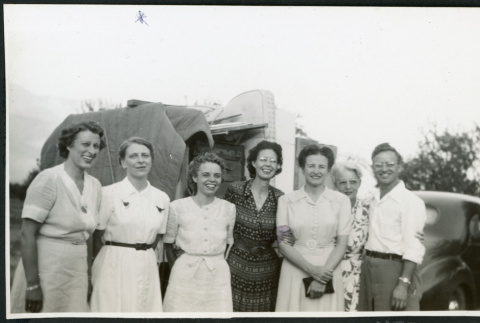 Photograph of Dr. Little with hospital nurses (ddr-csujad-47-318)