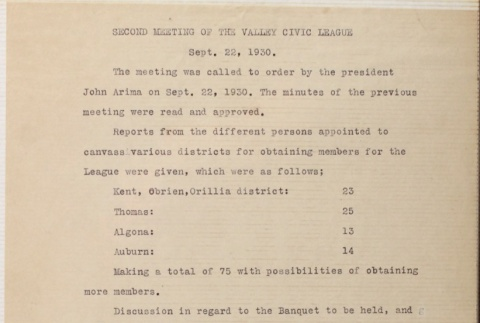 Minutes of the second Valley Civic League meeting (ddr-densho-277-4)