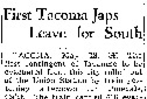 First Tacoma Japs Leave for South (May 18, 1942) (ddr-densho-56-800)